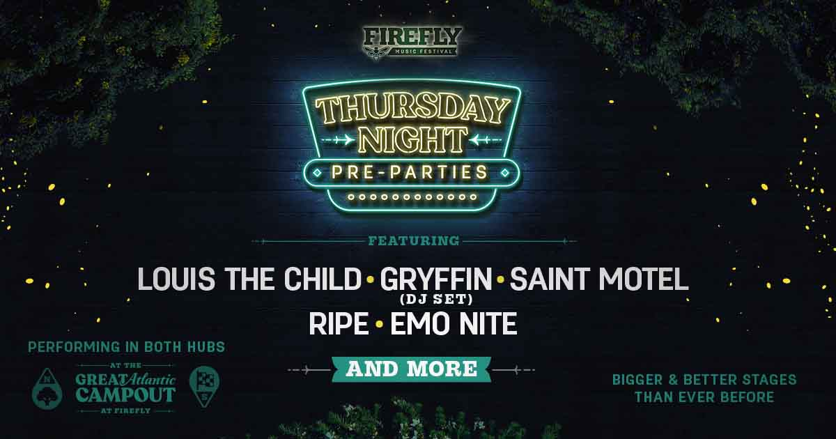 THURSDAY NIGHT AT FIREFLY 2019 WILL BE ONE FOR THE AGES!