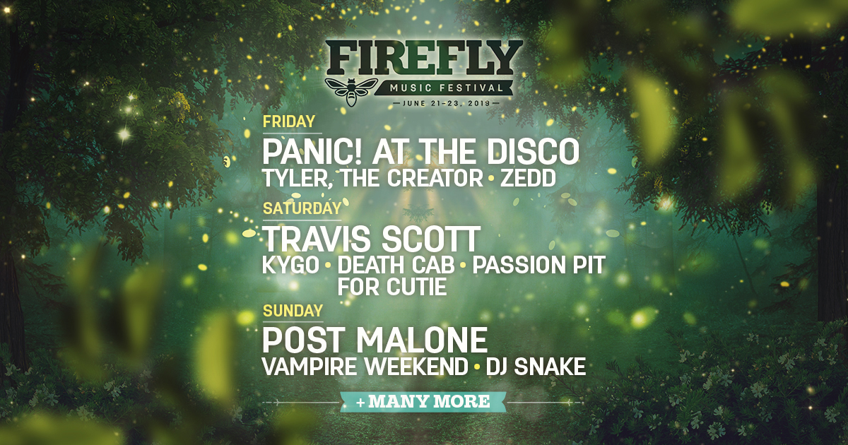 Look Alive - The Firefly 2019 Schedule Is Here!