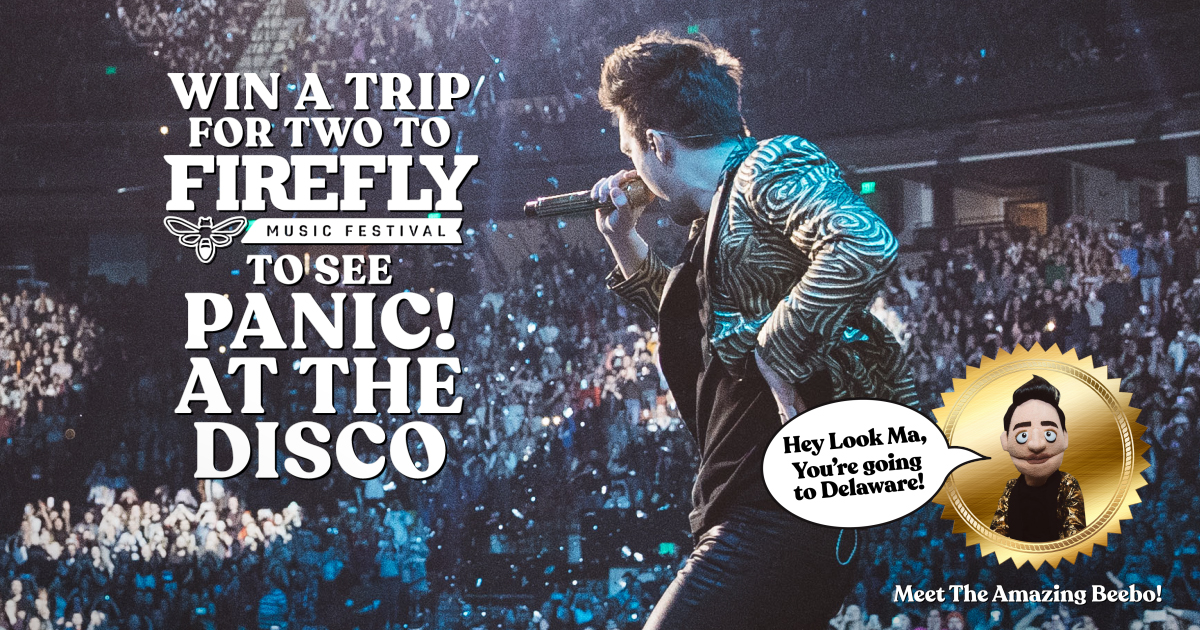 Win a trip for two to Firefly 2019 to see Panic! at the Disco