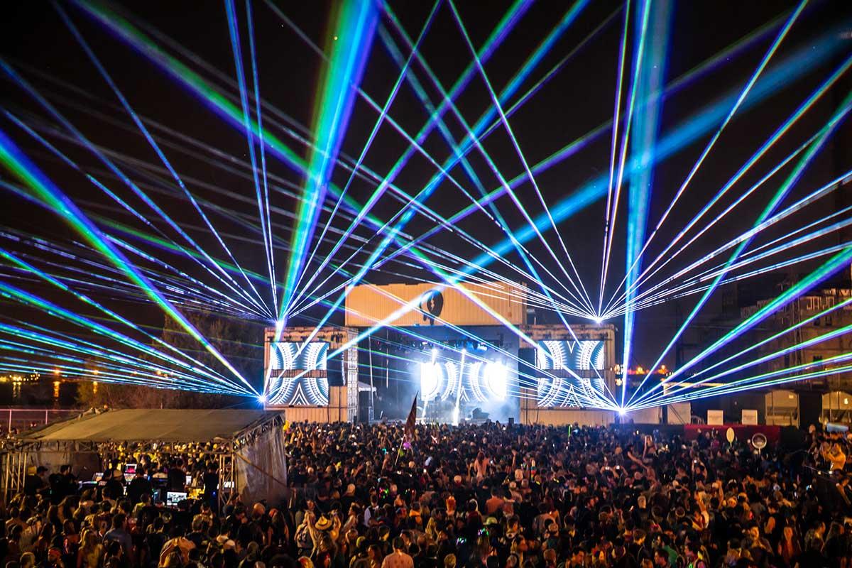 Buku Festival light show photo