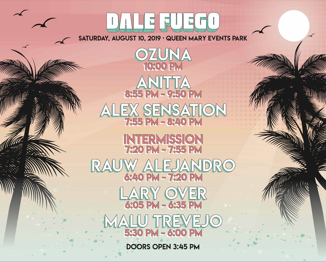 Dale Fuego Set Times