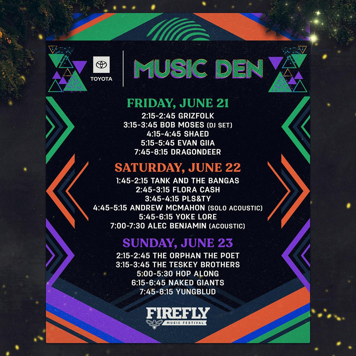 Firefly Music Festival   June 21 - 23 In Dover, Delaware