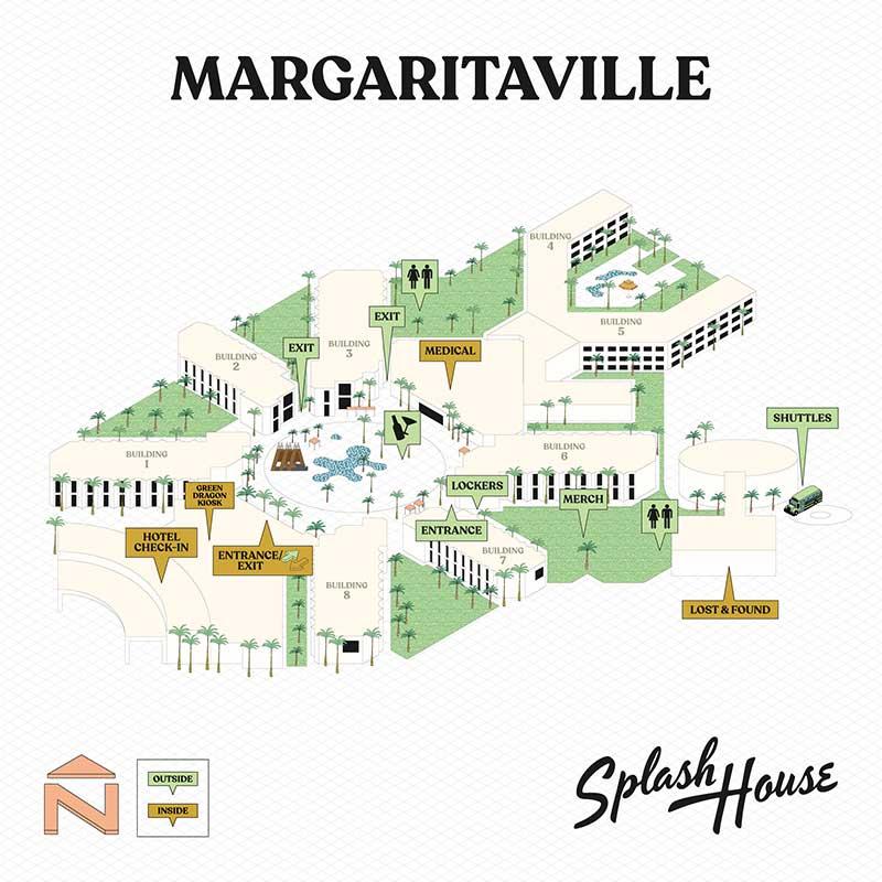 Splash House 2021 - Margaritaville map