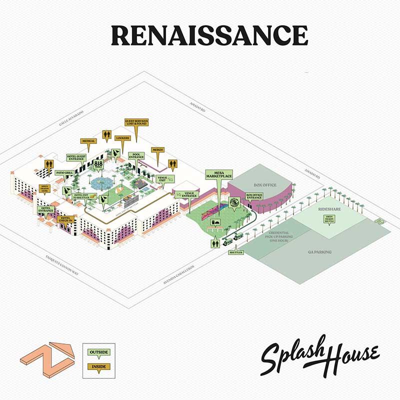 Splash House 2021 - Renaissance map