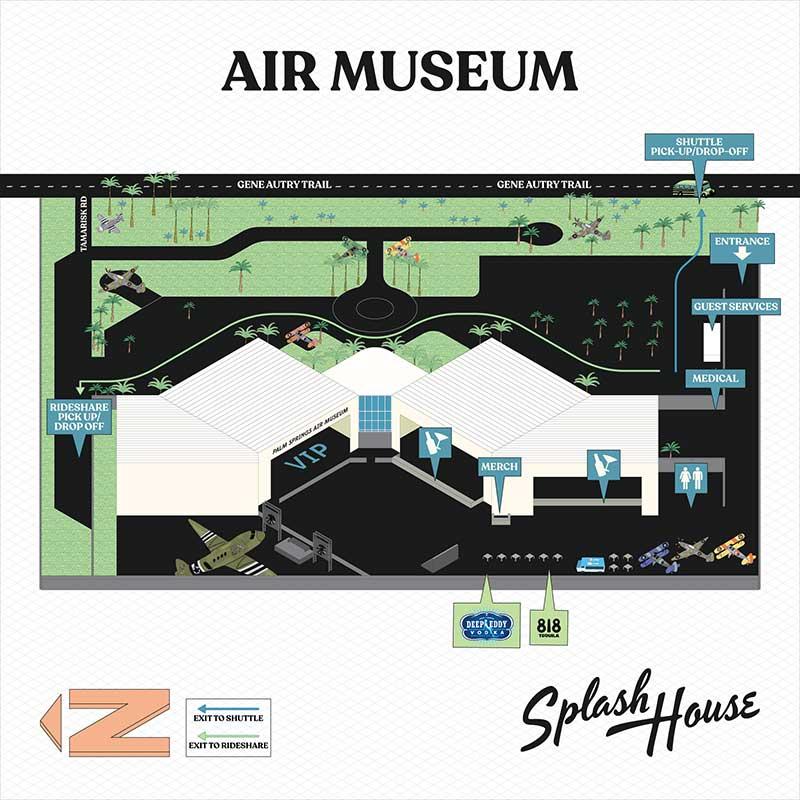 Splash House 2021 - Air Museum map