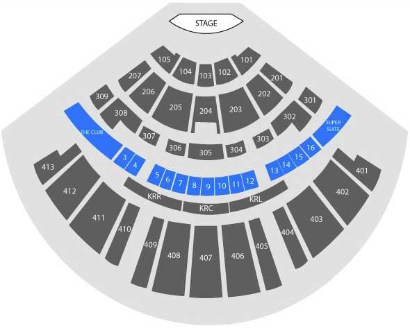 Texas Trust CU Theatre at Grand Prairie - seating map