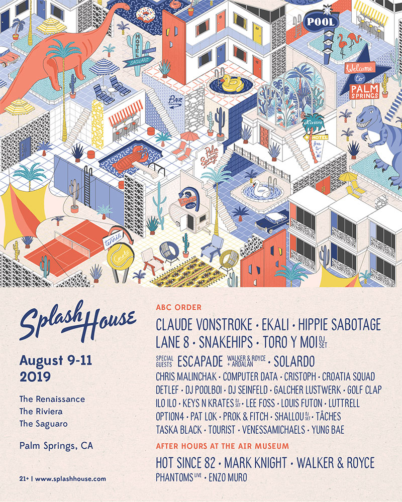 Splash House - August lineup poster