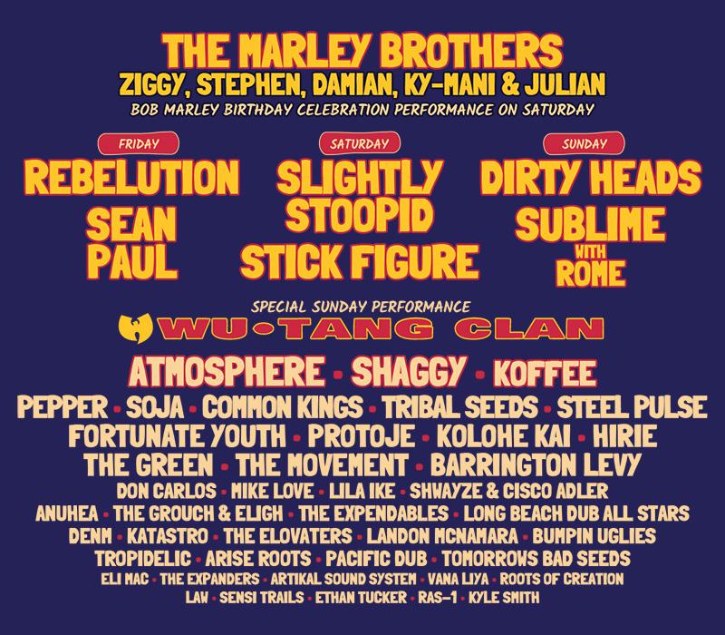 Cali Vibes lineup