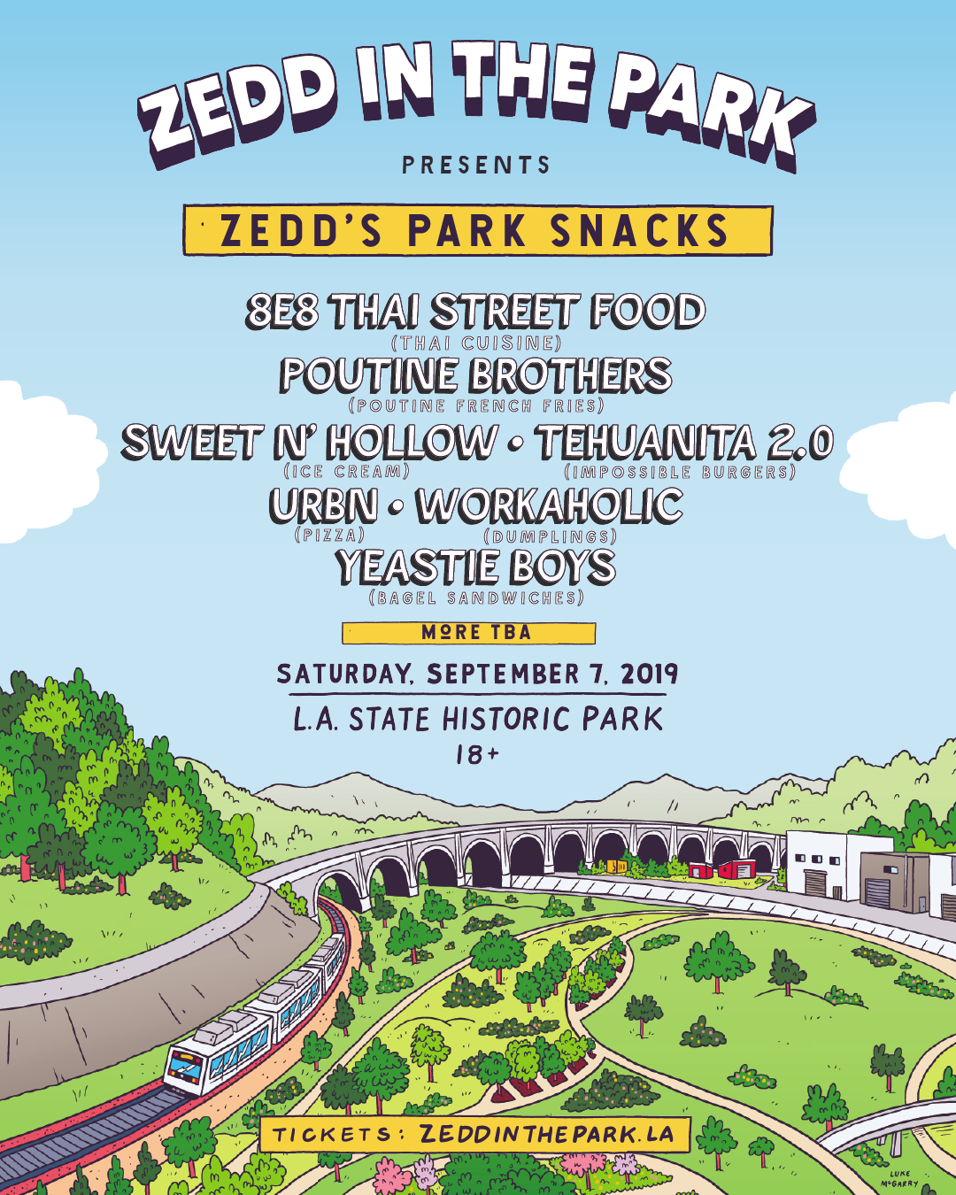 Zedd's Park Snacks flyer