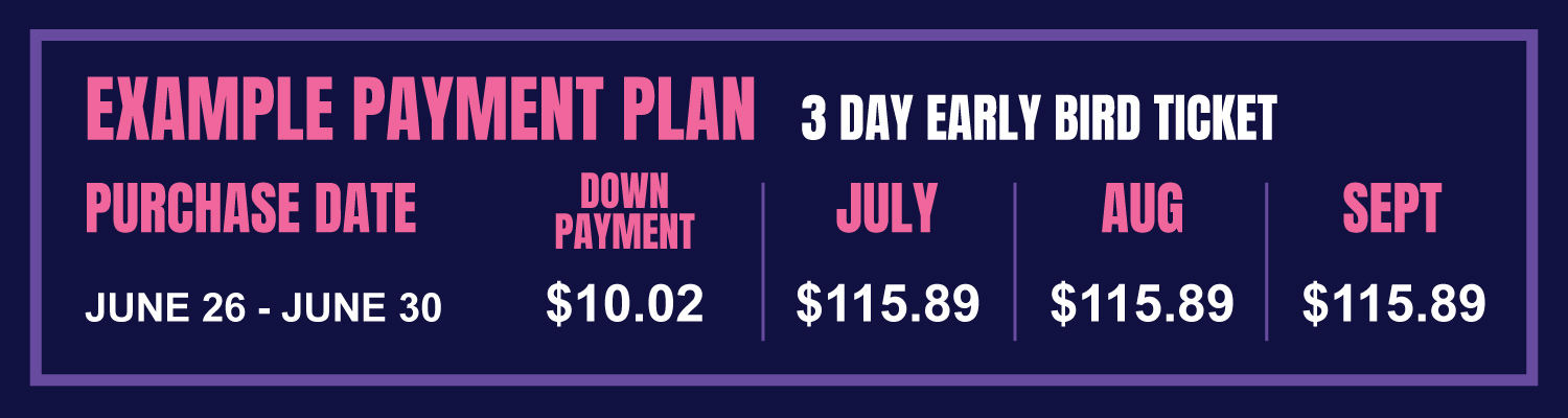 Payment Plan grid