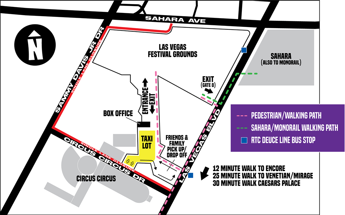 Day N Vegas festival grounds map