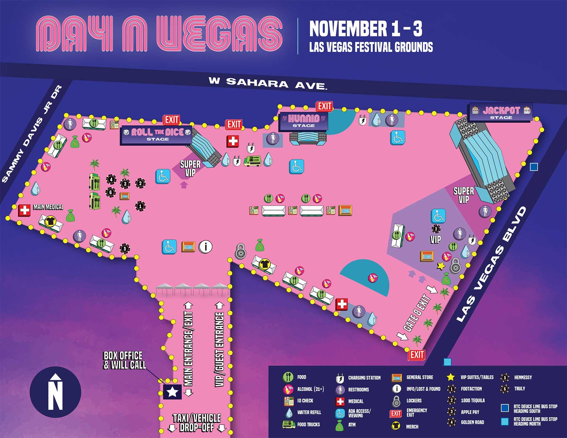 Day N Vegas 2019 map