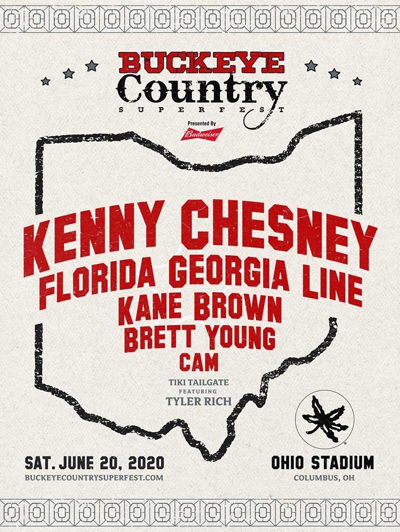 Buckeye Country Superfest 2020 poster