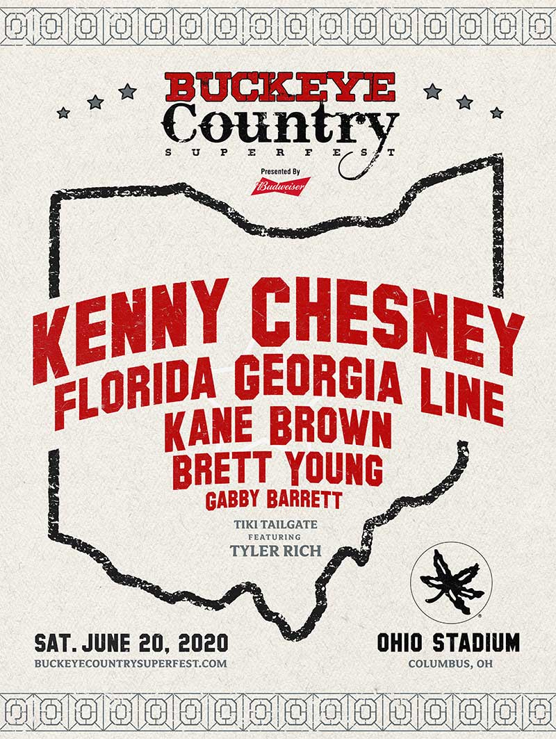 Buckeye Country Superfest 2020 poster