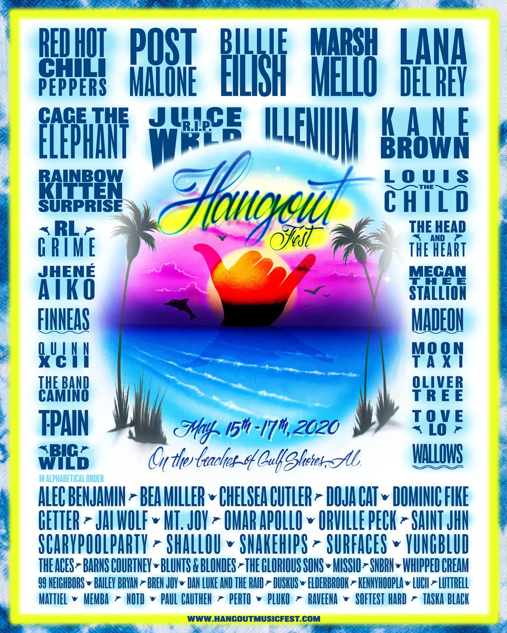 Hangout Music Fest 2020 poster