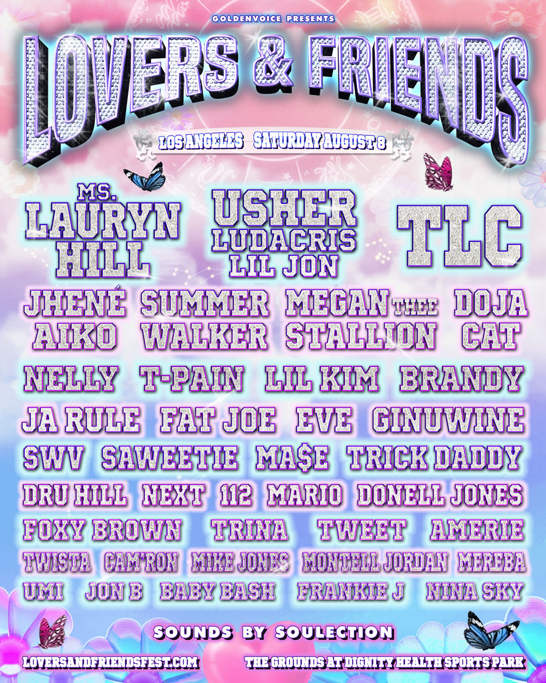 Lovers & Friends 2020 poster