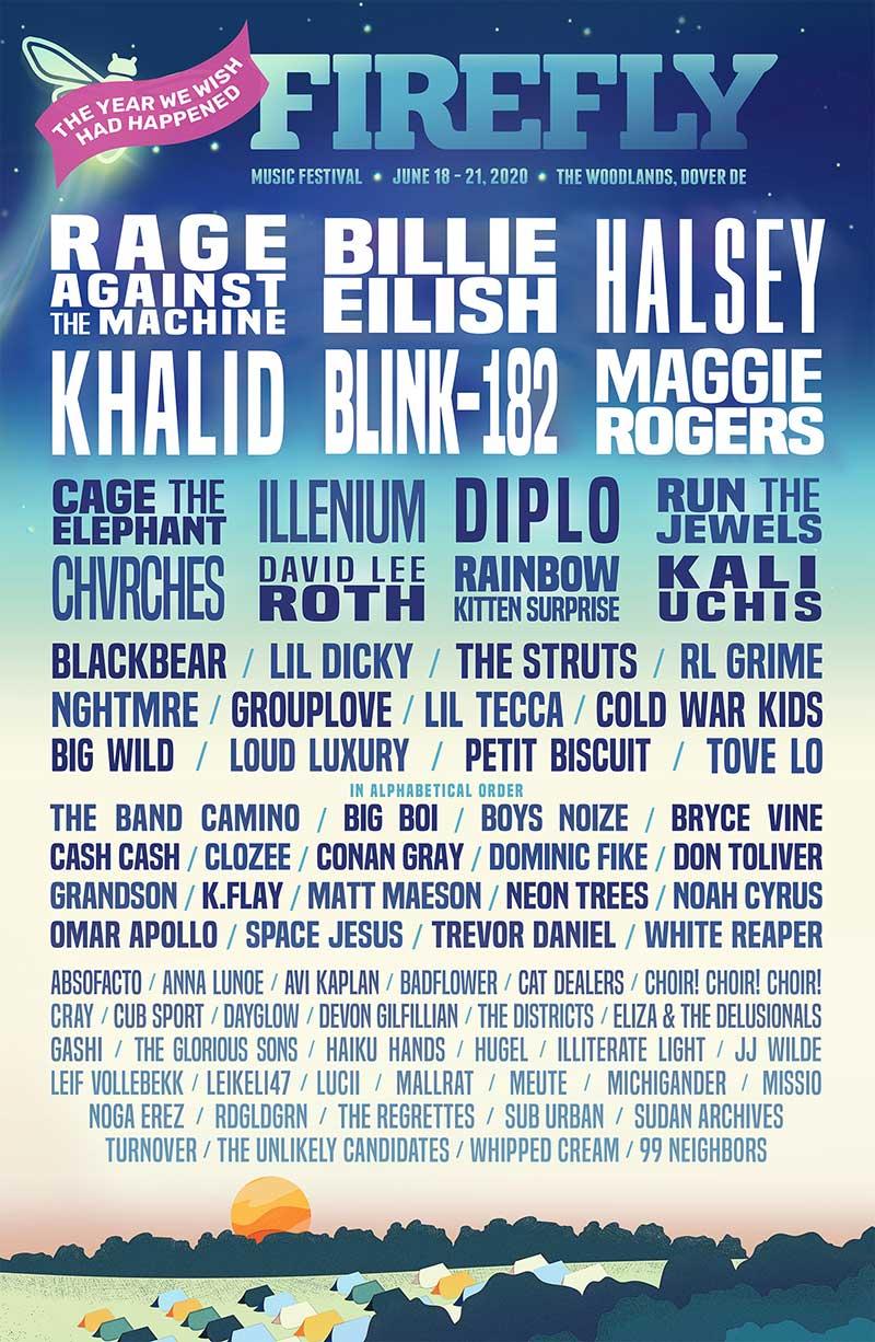 Firefly Music Festival 2020 poster
