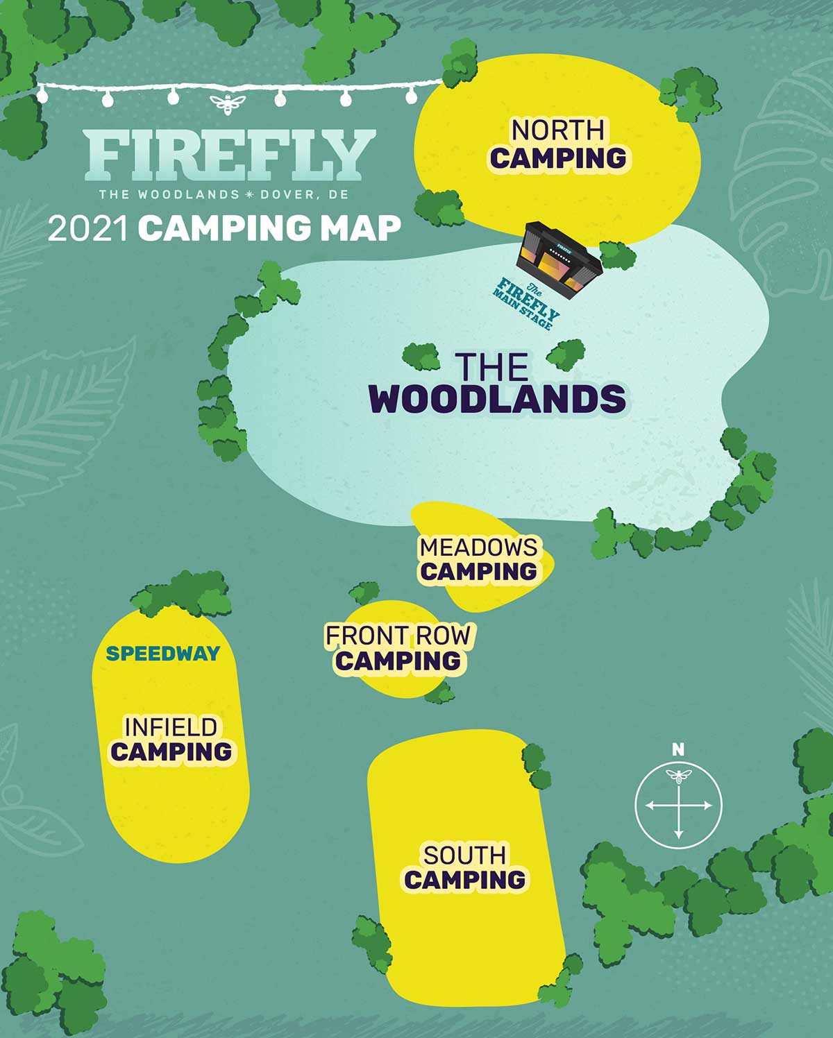Firefly camping map