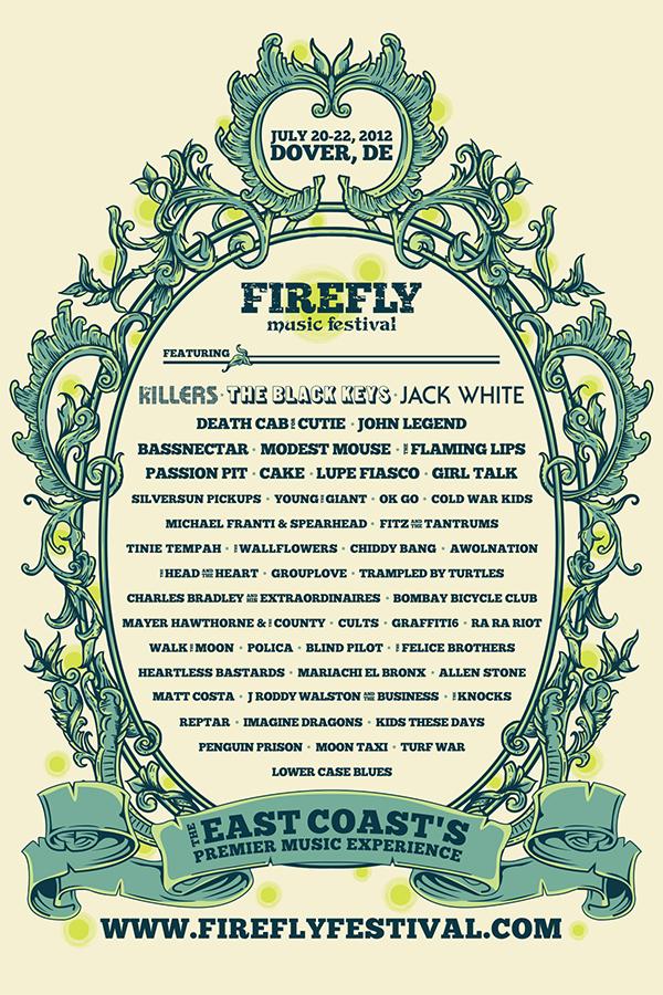 Firefly Music Festival 2012 poster