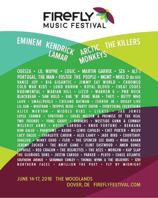 Firefly Music Festival 2018 poster