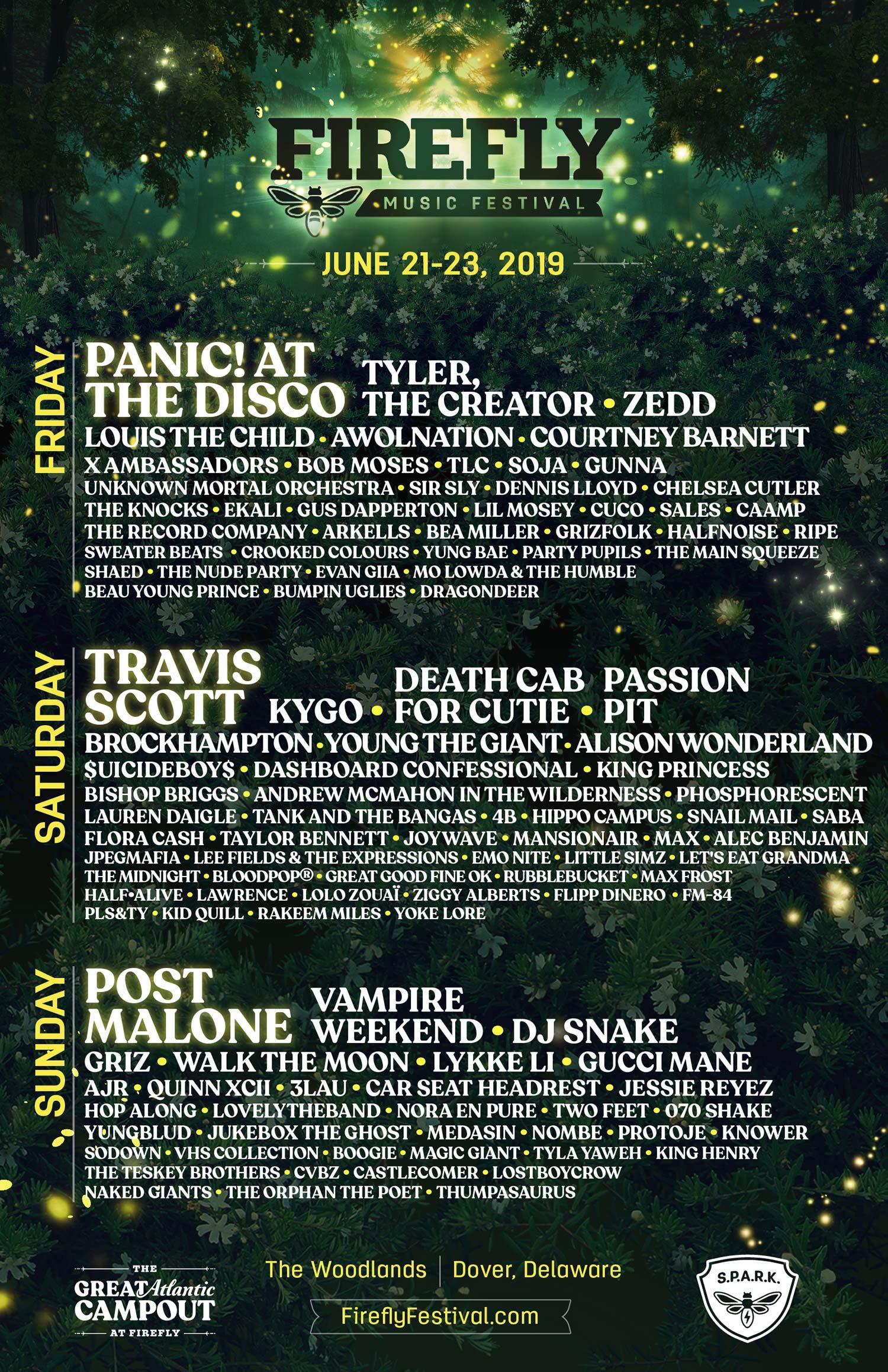 Firefly Music Festival 2019 poster
